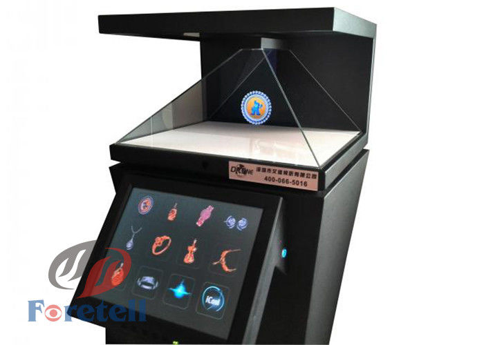 3D Virtual Projection 3d Hologram Pyramid , Full HD Holographic Video Display