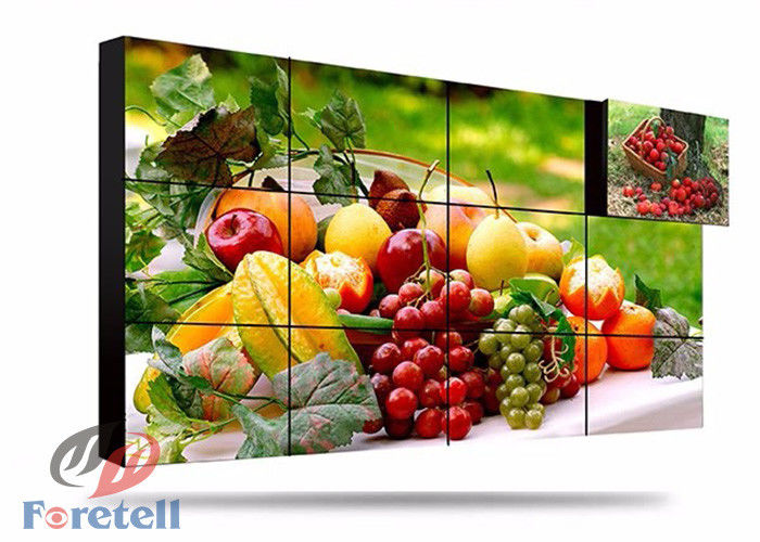 2.8mm Bezel 3D Lcd Display Flexible Video Wall , Curved Video Wall Built - In 3D Niose Reduction